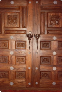 Angel door pulls